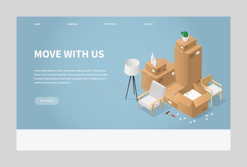 Mover-se para uma ilustração nova do lugar ilustração royalty free
