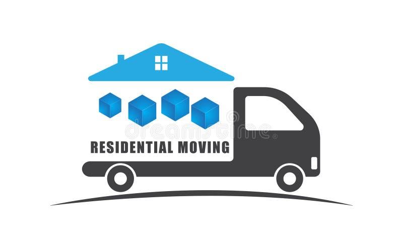 Mover-se residencial nos carros ilustração do vetor