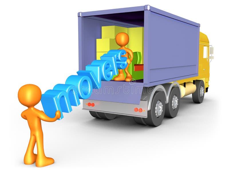 movers vektor illustrationer