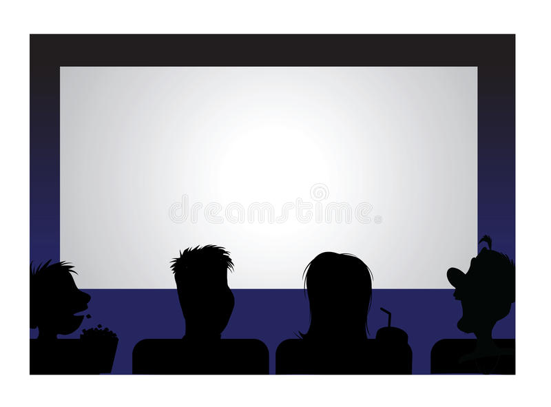 Download Movie audience stock vector. Illustration of cartoon - 14606292