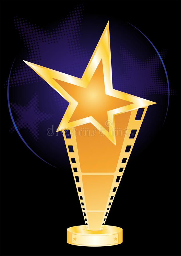 Movie award vector illustration