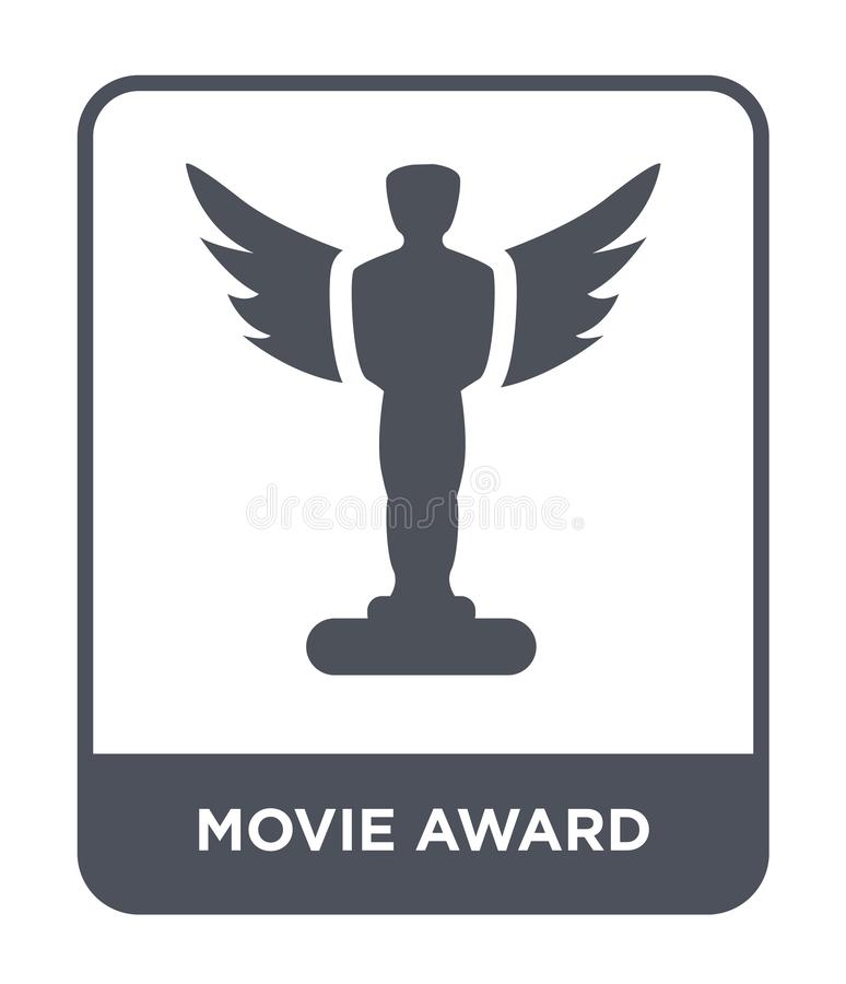 Movie award icon in trendy design style. movie award icon isolated on white background. movie award vector icon simple and modern. Flat symbol for web site royalty free illustration