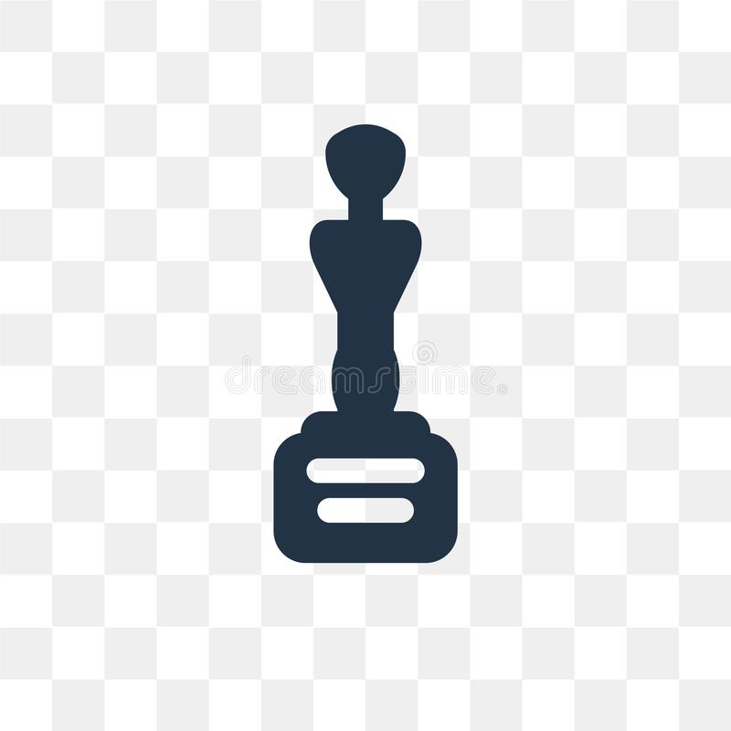 Movie Award vector icon isolated on transparent background, Movie Award transparency concept can be used web and mobile vector illustration
