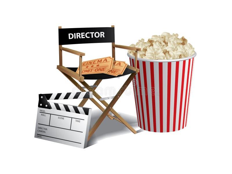 Movie background stock illustration