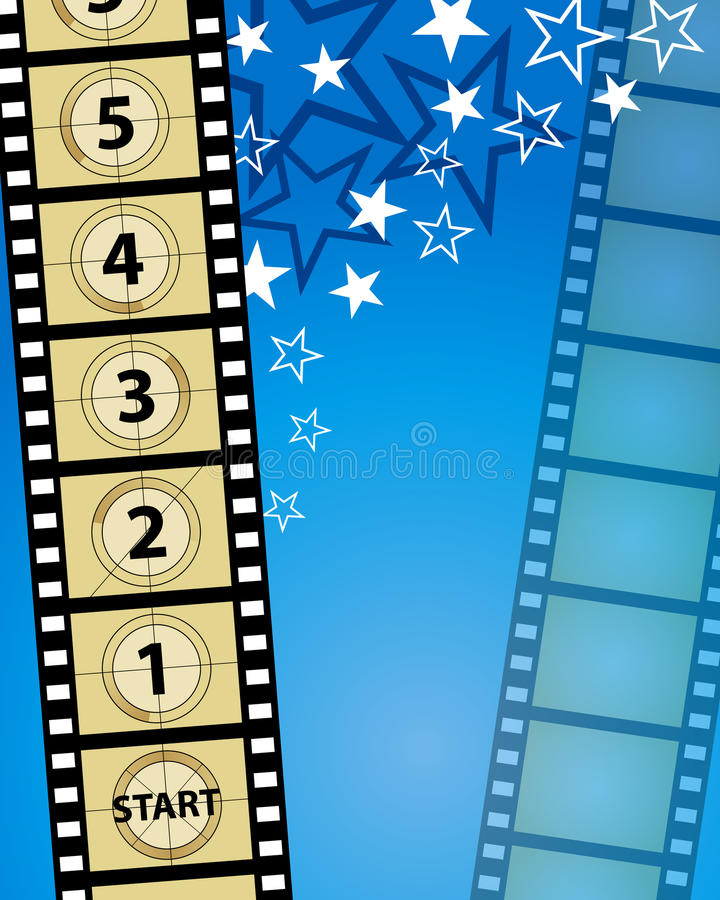 Movie Background. A movie theatre and film reel background vector illustration