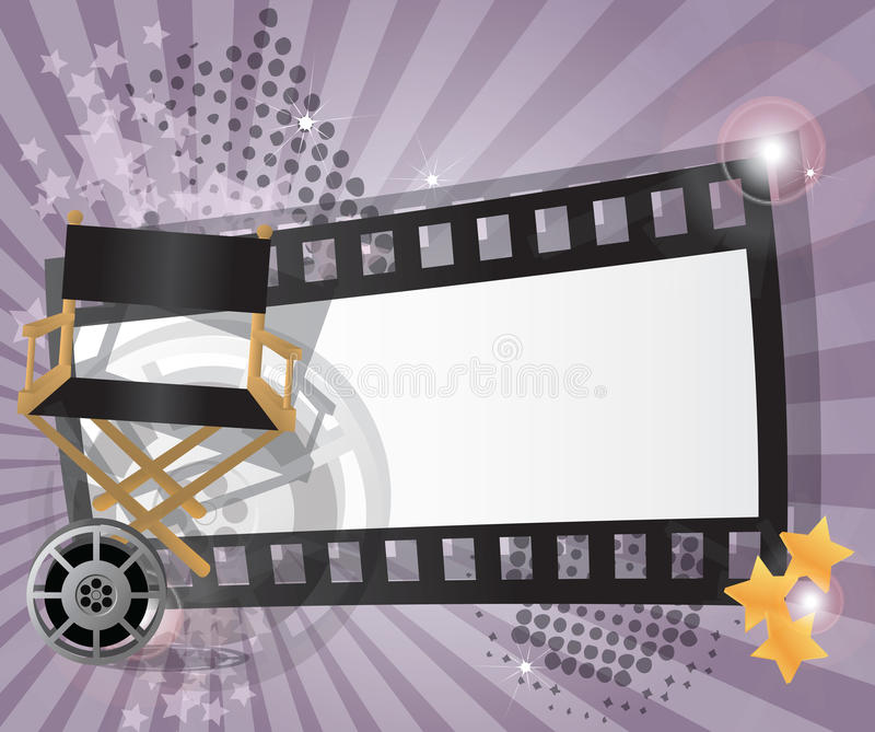 Movie background with place for text vector illustration