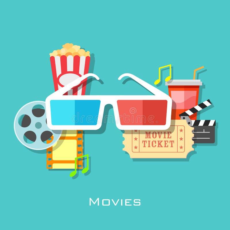 Movie Backround stock illustration