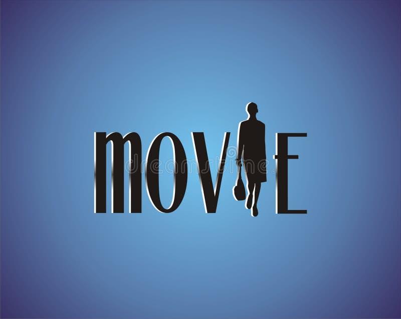 Movie on blue carpet royalty free illustration