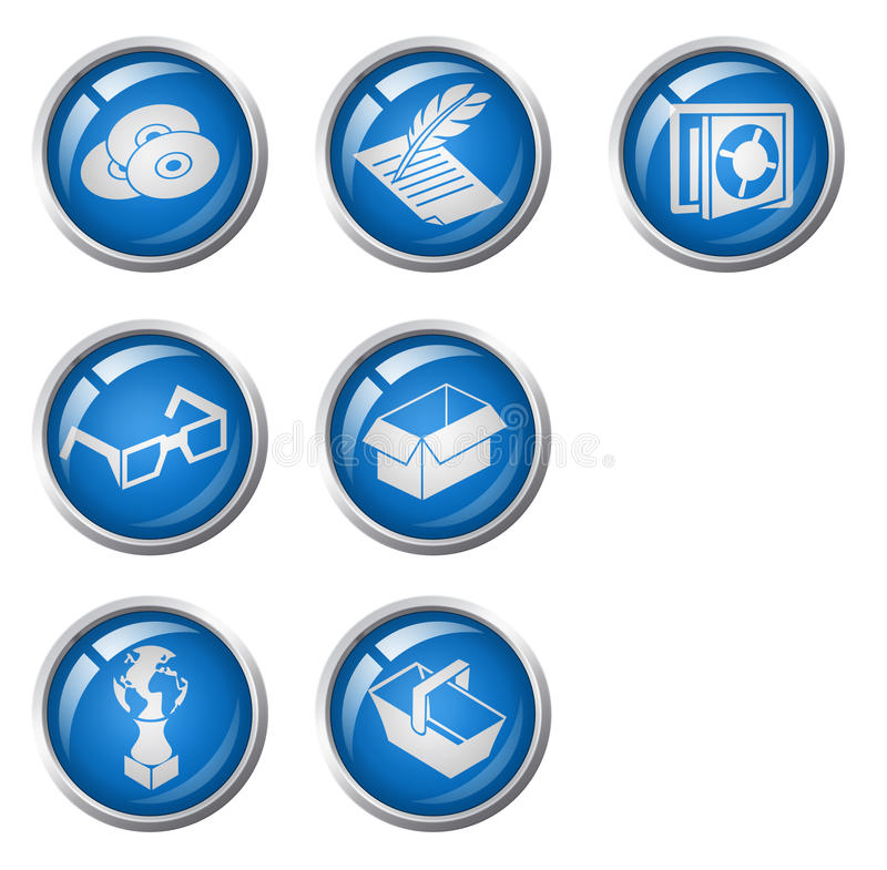 Download Movie Buttons Azure Royalty Free Stock Photo - Image: 22631725