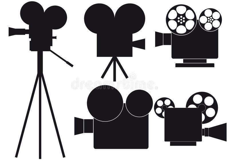 Movie camera vector illustration