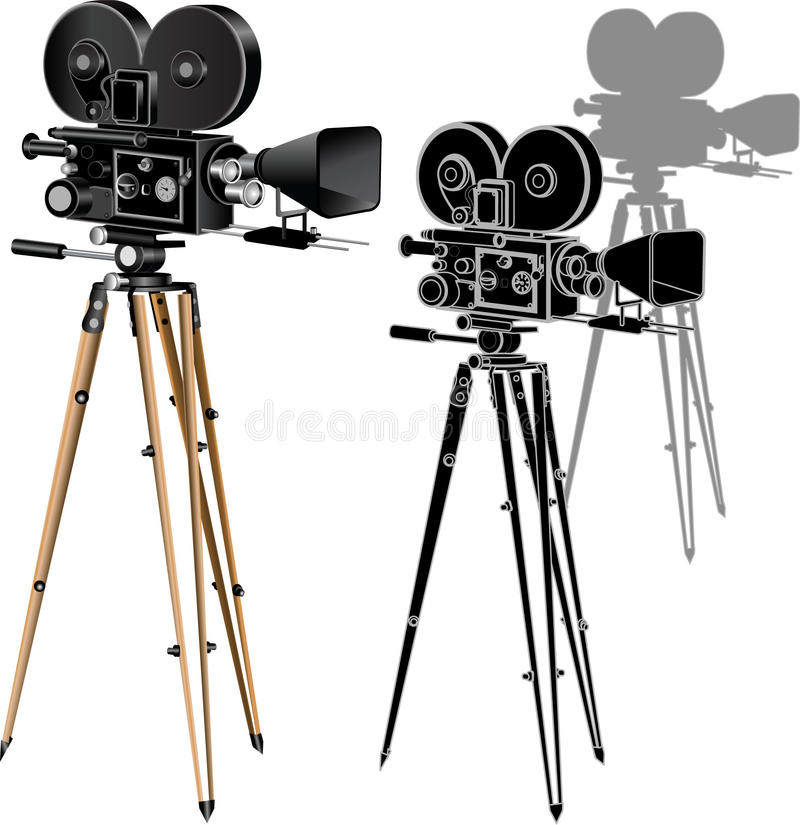 Download Movie camera stock vector. Illustration of antique, movie - 16441665