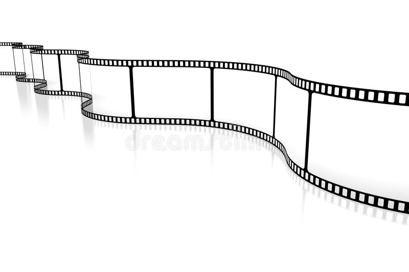 Movie/ camera tape concept royalty free illustration