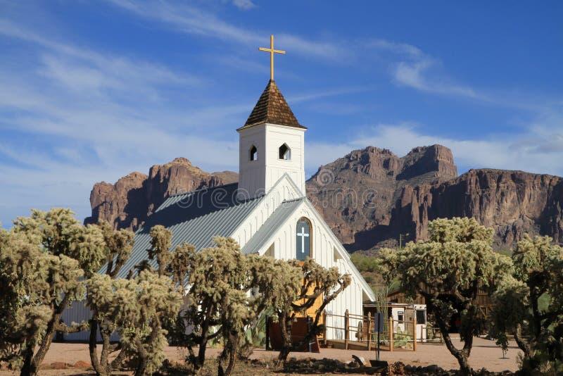 USA, Arizona/Apache Junction: Movie Chapel Royalty Free Stock Photo