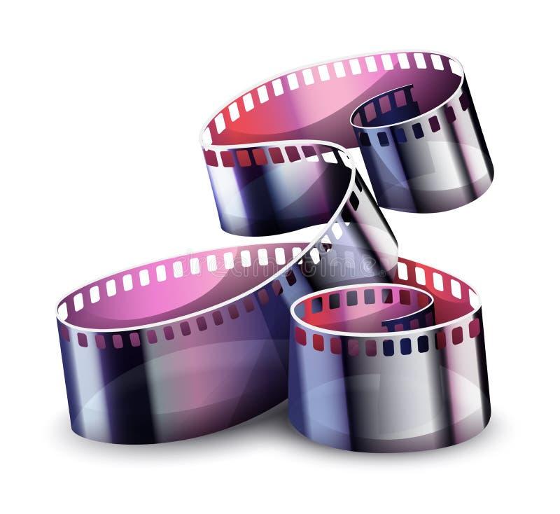 Movie cinema film reel. Vector illustration. Movie cinema film reel on white transparent background. Vector illustration vector illustration