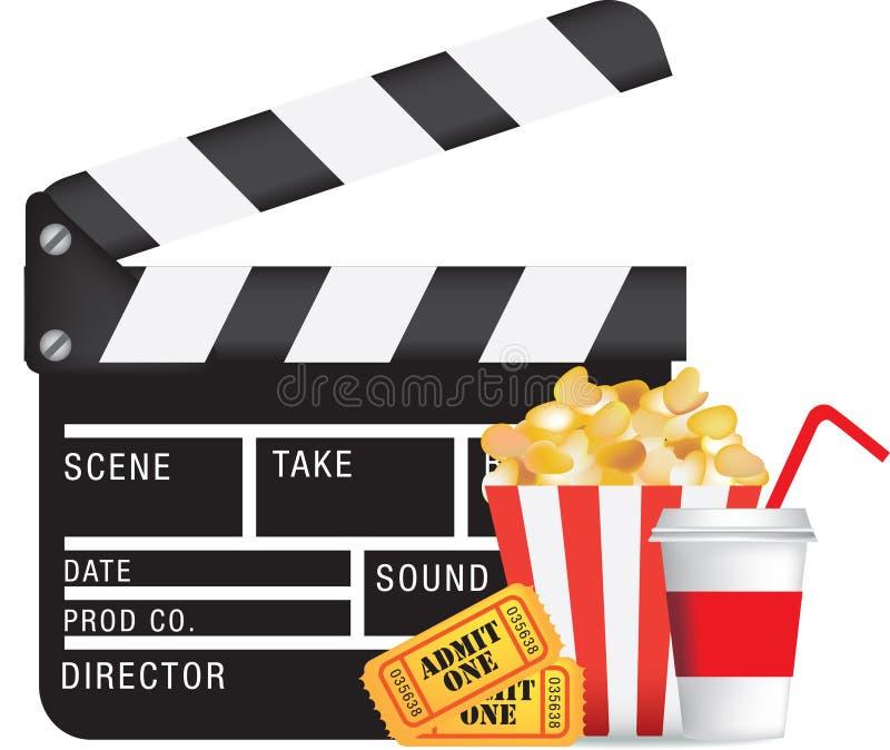 Movie and cinema icon set stock illustration