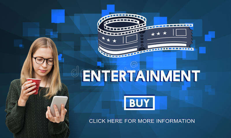 Movie Cinema Ticket Graphic Concept royalty free stock photos