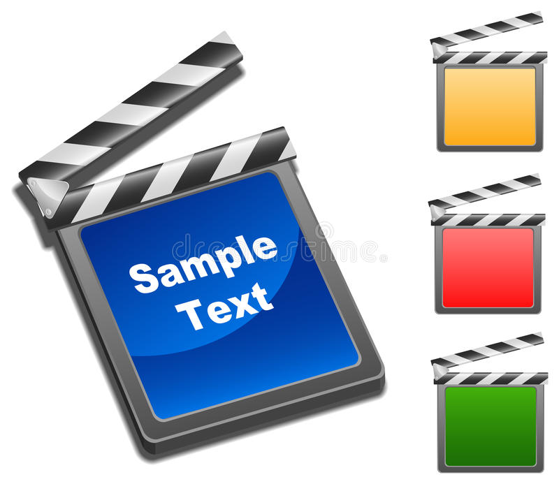Movie Clap. Layered vector illustration of movie clap with different color vector illustration