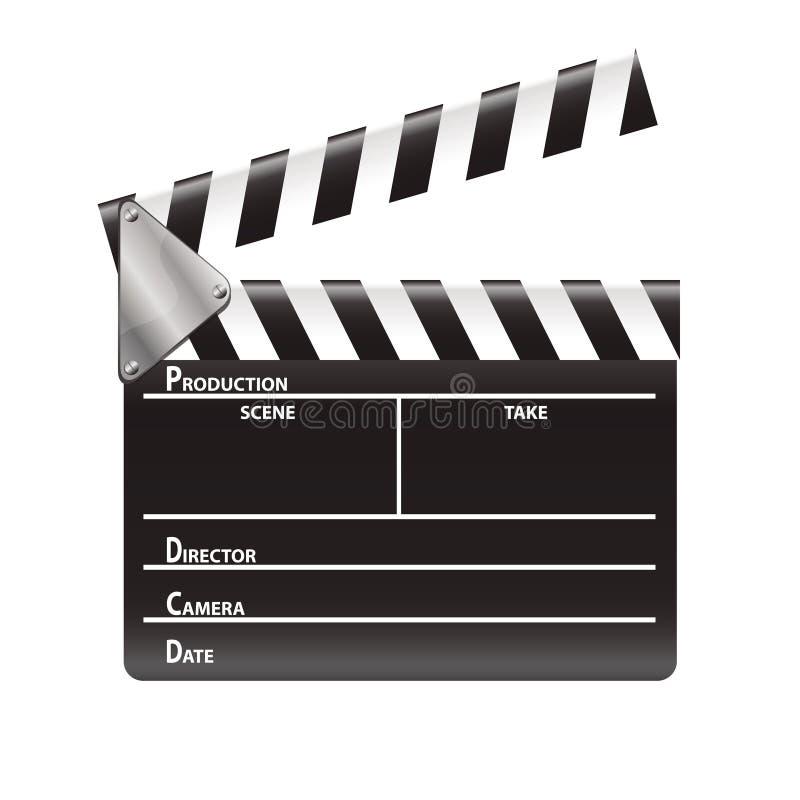 Movie clap. Retro black and white movie clap illustration vector illustration