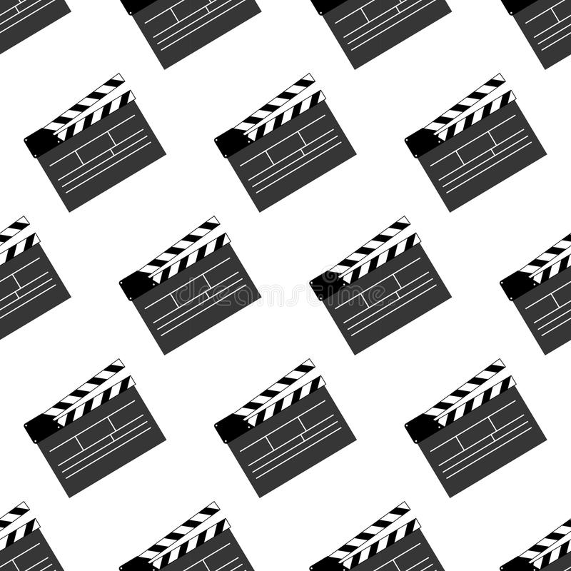 Movie clap pattern. On the white background. Vector illustration royalty free illustration