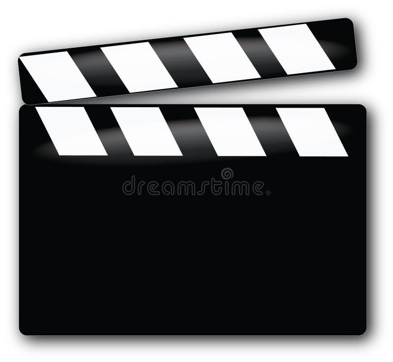 Movie Clapboard stock illustration