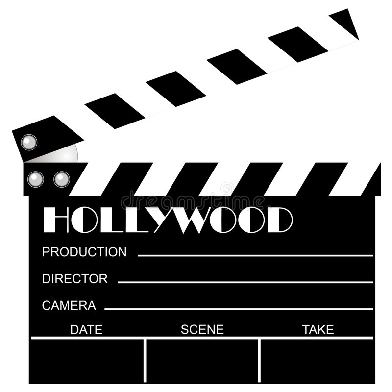 Download Movie clapboard stock vector. Image of motion, hands, clap - 1630808