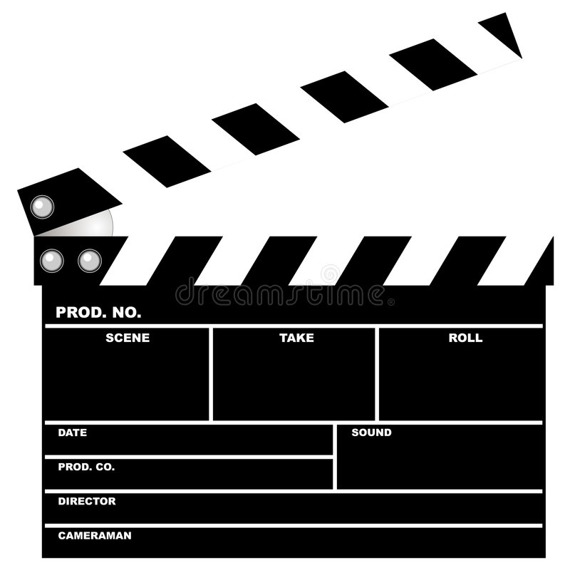 Download Movie clapboard stock vector. Illustration of industry - 1630811