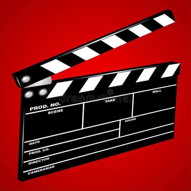 Movie clapboard royalty free illustration