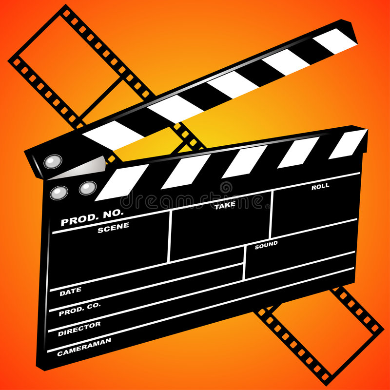 Movie clapboard vector illustration