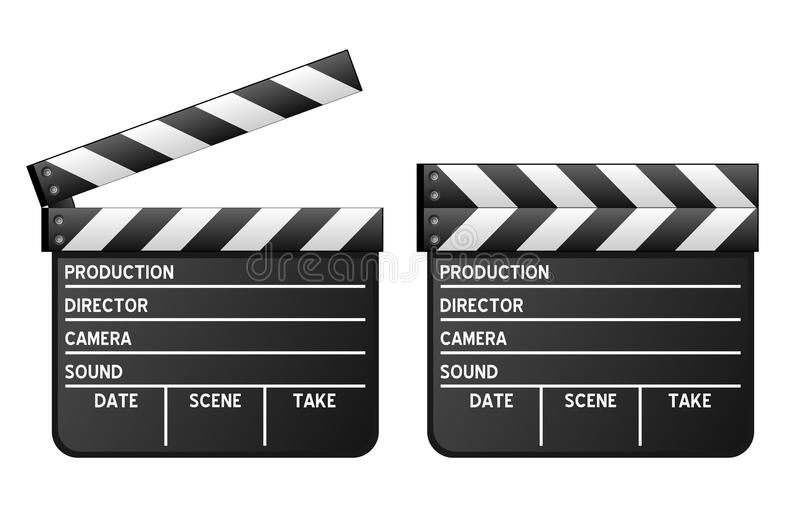 Movie Clapboard royalty free illustration