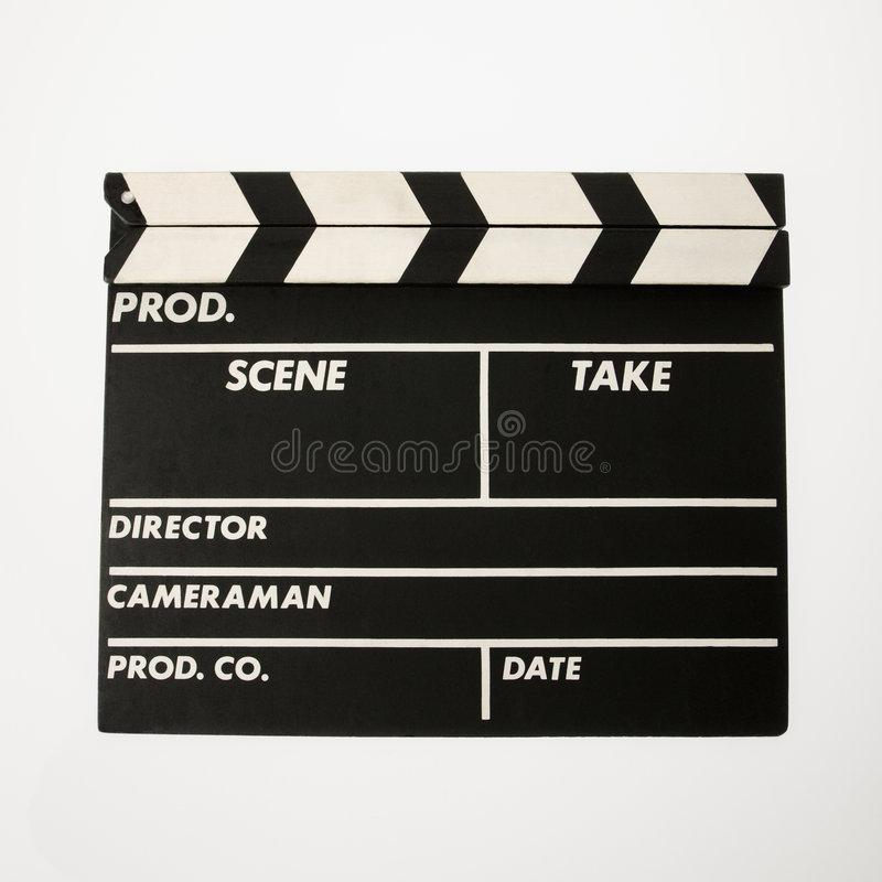 Download Movie clapboard. stock image. Image of empty, take, cutout - 3532573