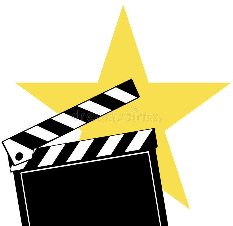Download Movie clapboard stock vector. Image of maker, oscars, clapboard - 6751428