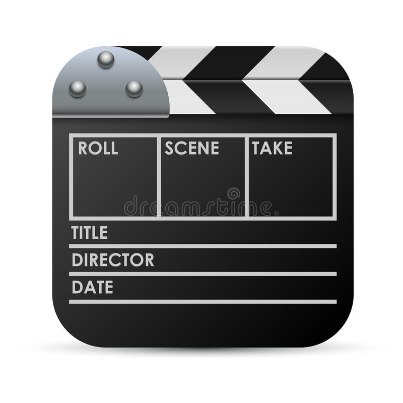 Movie Clapboard Illustration Royalty Free Stock Image