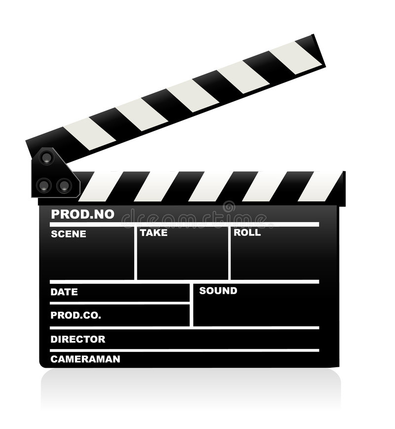 Download Movie clapper board stock vector. Image of footage, object - 8573693