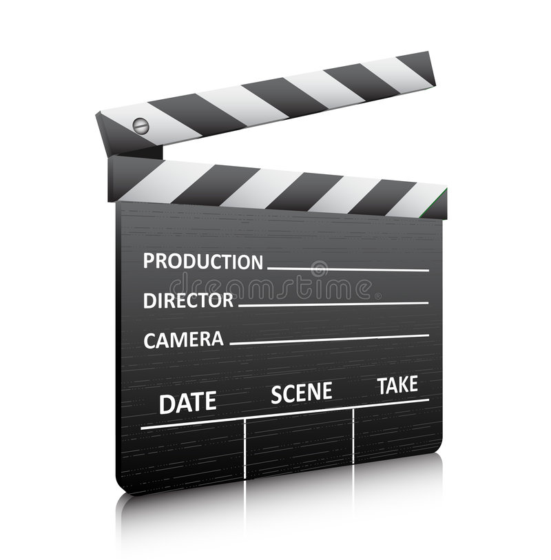 Movie clapper board. Vector illustration of movie clapper board stock illustration