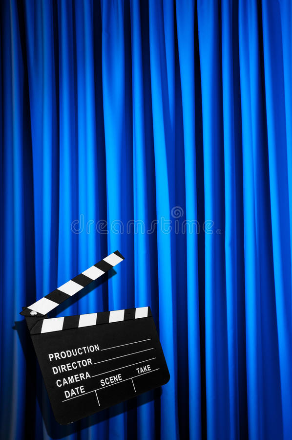 Download Movie clapper board stock image. Image of drapes, industry - 31753115