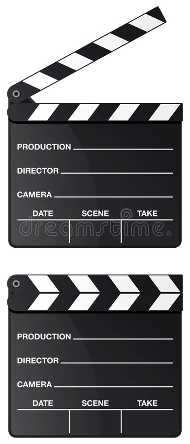 Movie Clapper Board Isolated Stock Image