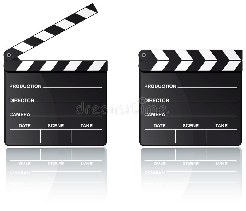 Download Movie Clapper Board With Reflection Stock Vector - Image: 12254883
