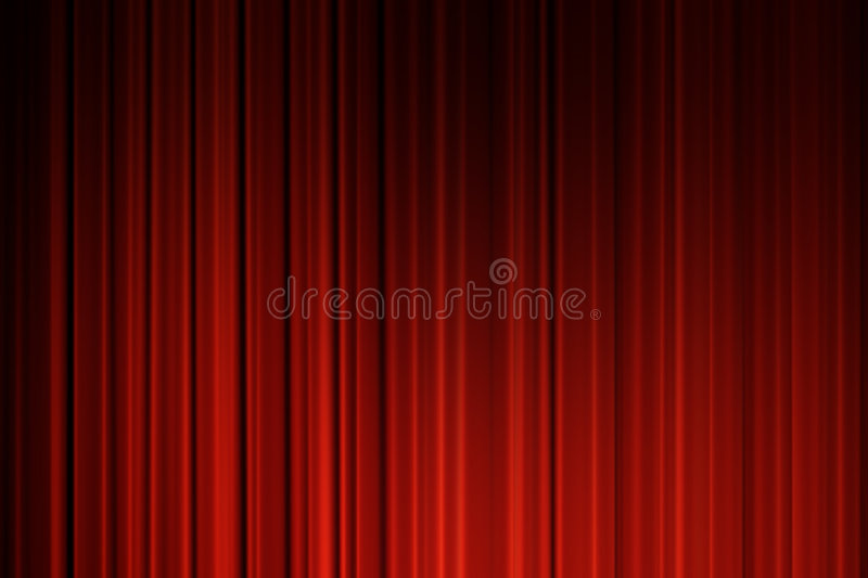Movie curtains royalty free stock image