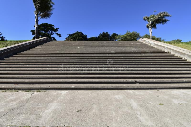 The movie damaged steps of Alta Plaza Park, 3. royalty free stock image