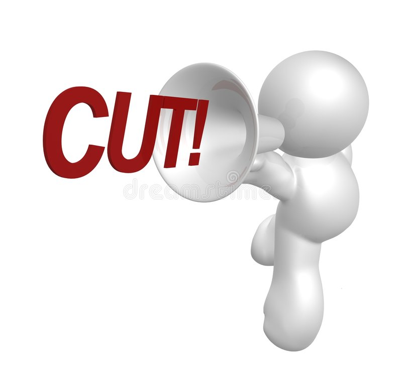 Movie Director Shouting Cut Stock Images
