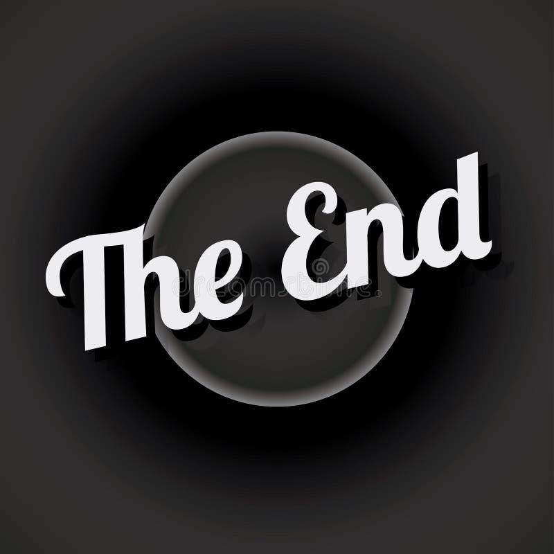 Movie ending screen vector illustration