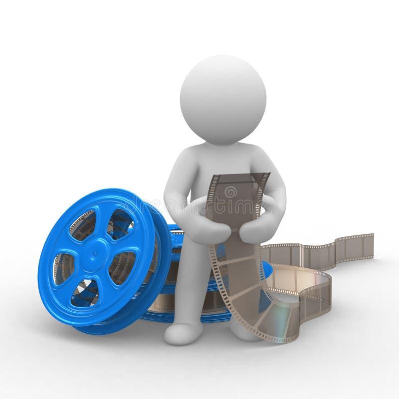 Movie film vector illustration