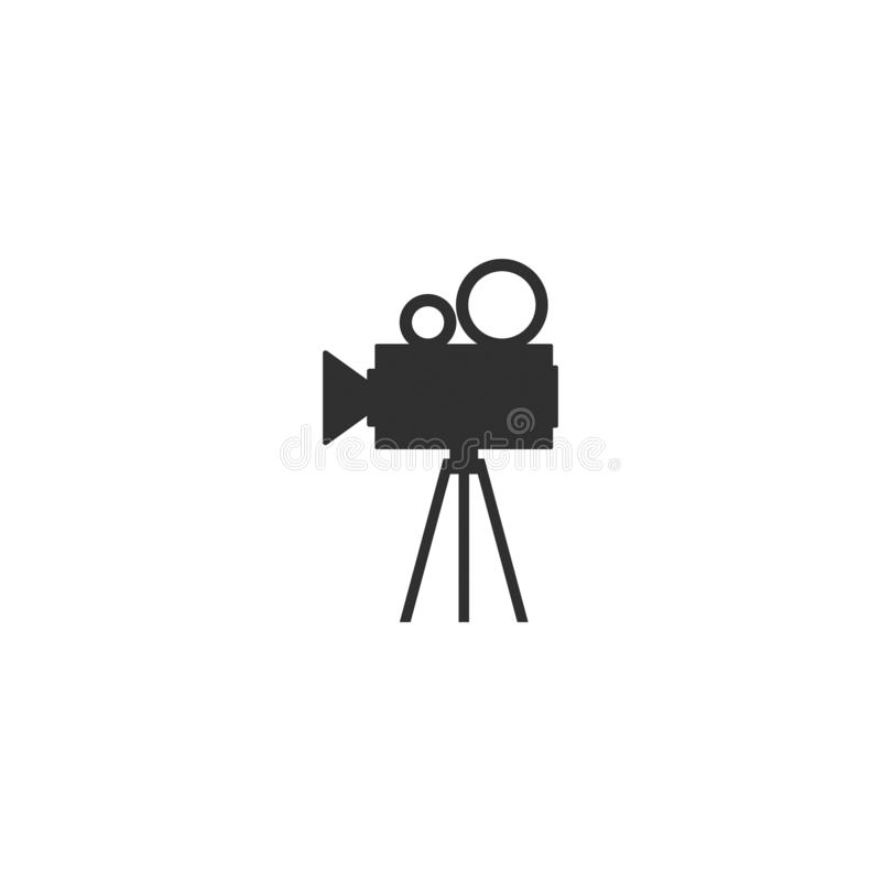 Movie film camera icon outline isolated 2 stock illustration