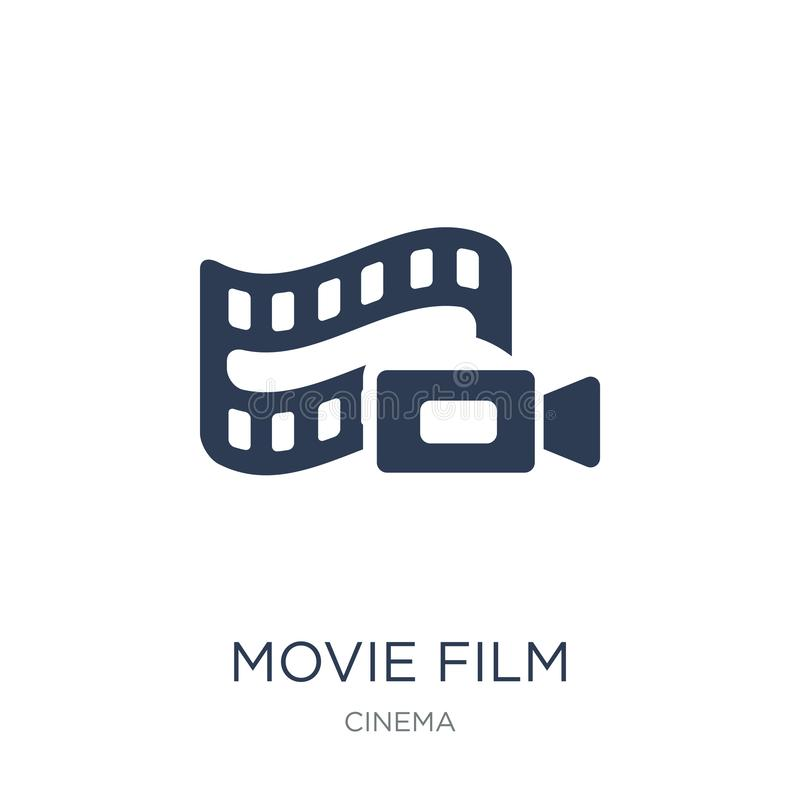 Movie Film icon. Trendy flat vector Movie Film icon on white background from Cinema collection royalty free illustration
