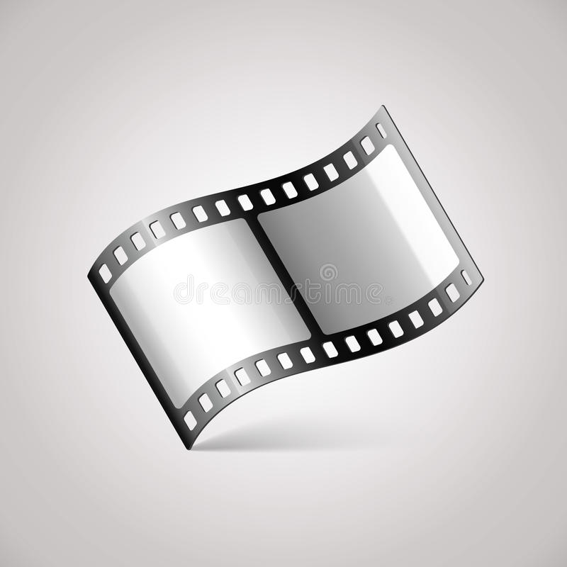 Movie Film Icon. Vector illustration of video file icon royalty free illustration