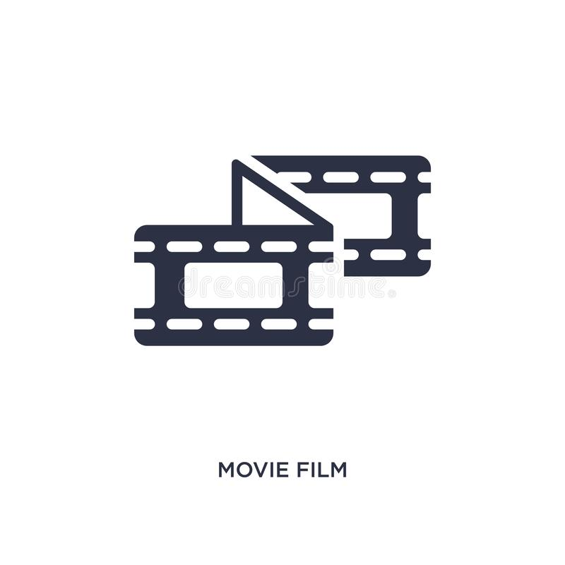 movie film icon on white background. Simple element illustration from cinema concept royalty free illustration