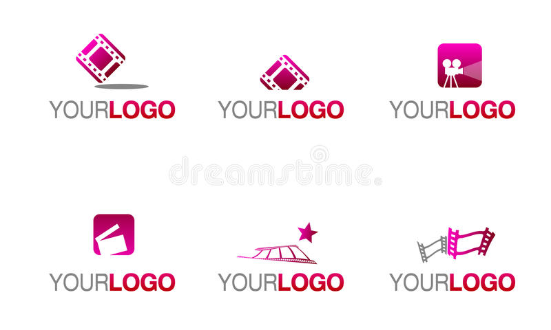 Movie and film industry logo royalty free illustration