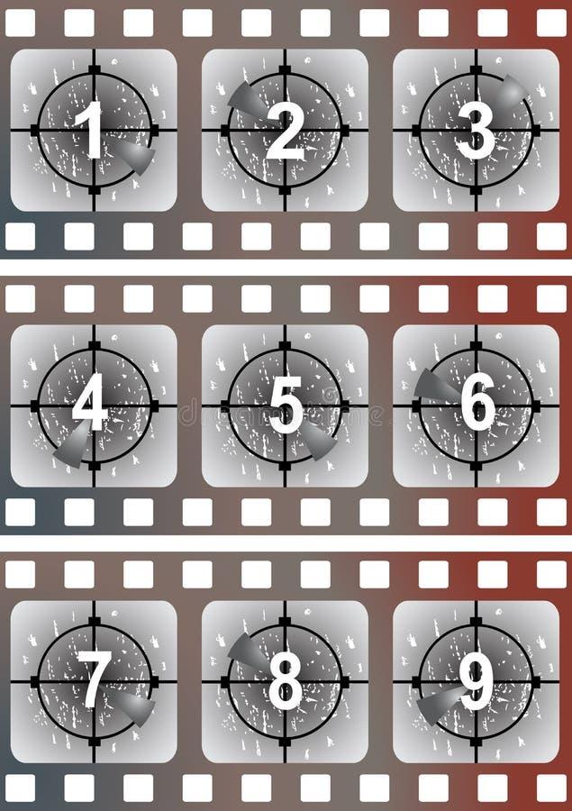 Movie film leader vector illustration