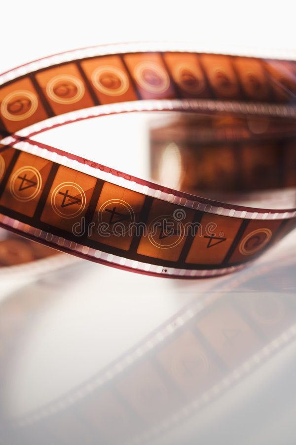 Download Movie film leader stock image. Image of curved, curving - 806627