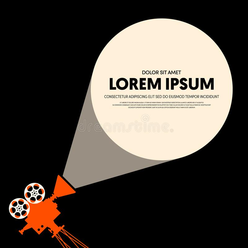 Movie and film modern retro vintage poster background stock illustration